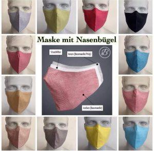 Masken mit Nasenbügel