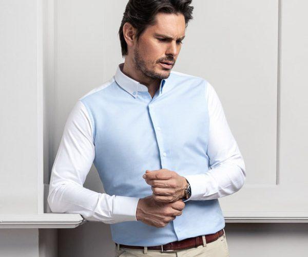 Bi-Color-Maßhemd