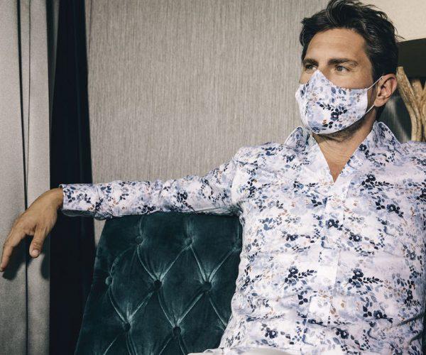 Maske passend zum Hemd